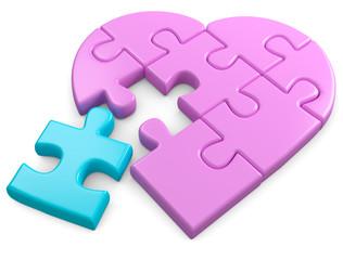 Herz puzzleteil