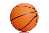 Orange basketball isolated over white background