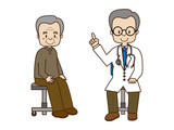 高齢者と医師