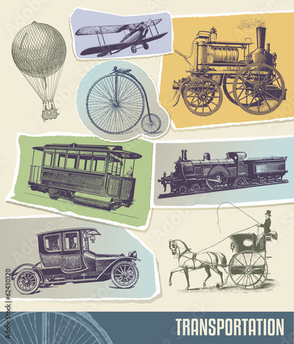 Vintage transportation vector illustration