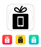 Gift mobile phone icon.