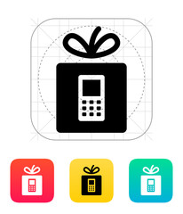 Gift phone icon.
