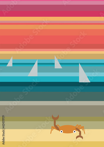 Beach abstract travel and landscape background