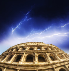 Rome. Storm above Colosseum