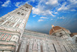 Beautiful sky colors over Cathedral Church. Duomo, Basilica di S