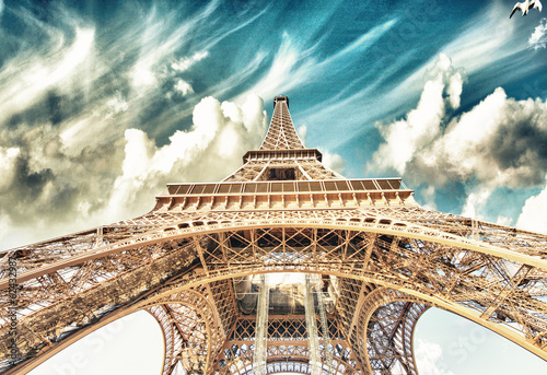 Beautiful view of Eiffel Tower in Paris