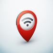 icône épingle punaise marqueur carte internet wifi