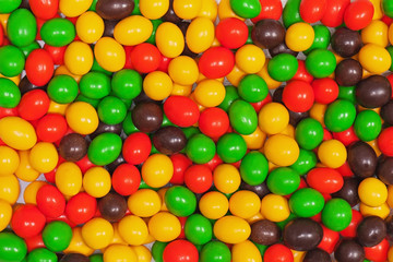 Multicolored candies.