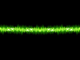 Green sound wave on white background.   EPS10
