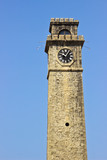 Old clock tower in Galle Fort Sri Lanka
