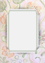 floral frame with slit corners