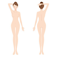 女性 美容 裸 ヌード 全身