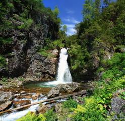 Waterfall  . Khamar-Daban, southern Near-Baikal territory.