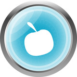 Apple Icon on Internet Button Original Illustration