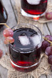 Glass with fresh Grape Juice