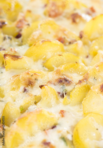 Potato Gratin (macro shot)