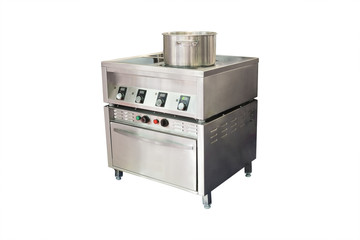 electric stove with can