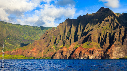 Beautiful Napali Coast Mountains