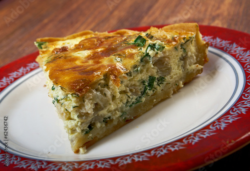 quiche with halibut