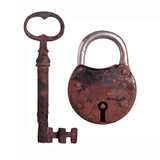 old lock and old key
