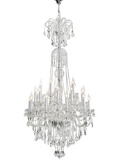 Luxury Glass Chandelier isolated ,Clipping Path Included