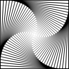 Design monochrome twirl movement illusion background. Abstract s