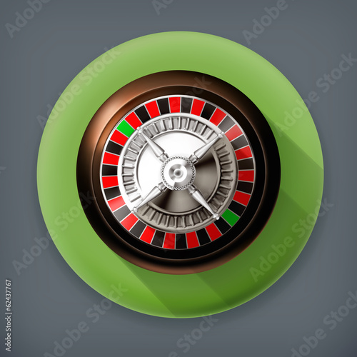Roulette, long shadow vector icon