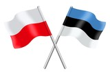 Flags: Poland and Estonia