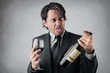 tasting businessman