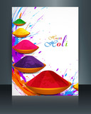 Beautiful spalsh with gulal festival holi brochure template back