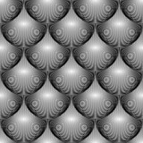 Design seamless monochrome circular geometric lines pattern. Abs