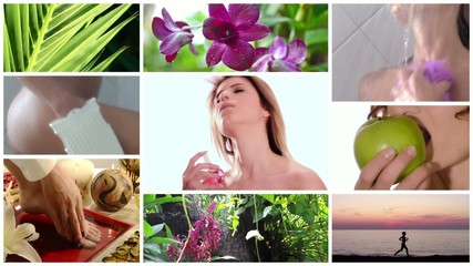 beauty care collage