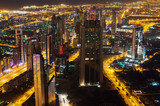 Downtown of Dubai (UAE) at night. The view from Burj Khalifa