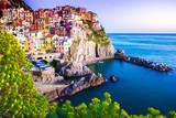 Sunset in Manarona, Cinque Terre, Italy - 62439193