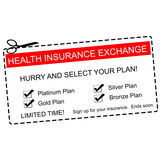 Health Insurance Exchange Coupon Concept