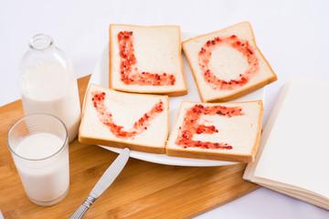 Breakfast for sweetheart