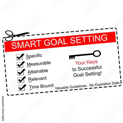 Smart Goals Setting Coupon Concept
