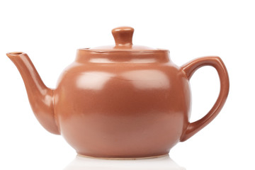 Red terracotta teapot