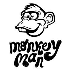Monkey Cartoon Face
