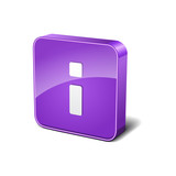 info 3d Rounded Corner Violet Vector Icon Button
