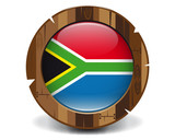 South Africa wood button