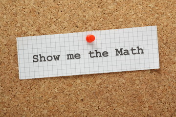 Show Me The Math