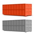 Leinwandbild Motiv Recycling - Container 40 cbm