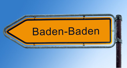 Strassenschild 7 - Baden-Baden