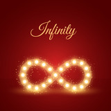 Glowing Infinity Symbol Background