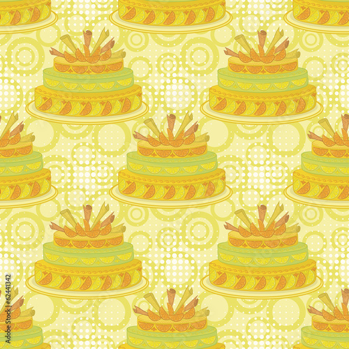 Seamless background, holiday pie