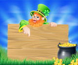 Saint Particks Day Leprechaun Sign