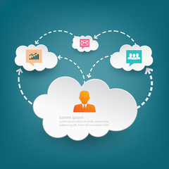 Cloud computing abstract background