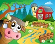 Farm theme with red barn 6