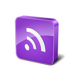 RSS 3d Rounded Corner Violet Vector Icon Button